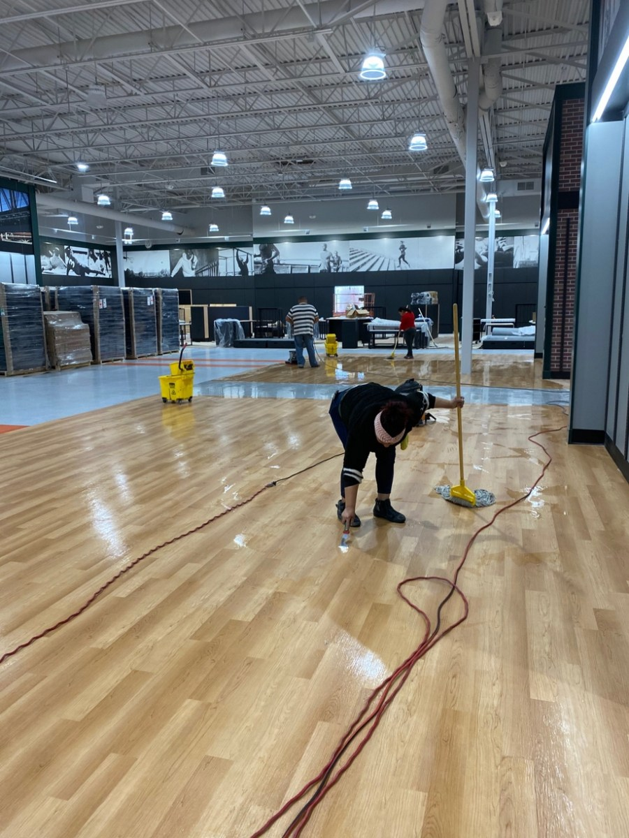 Dicks Sports Floors Stripping, Sealing and Waxing in