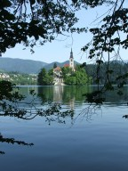 The island in the middle of Lake Bled
