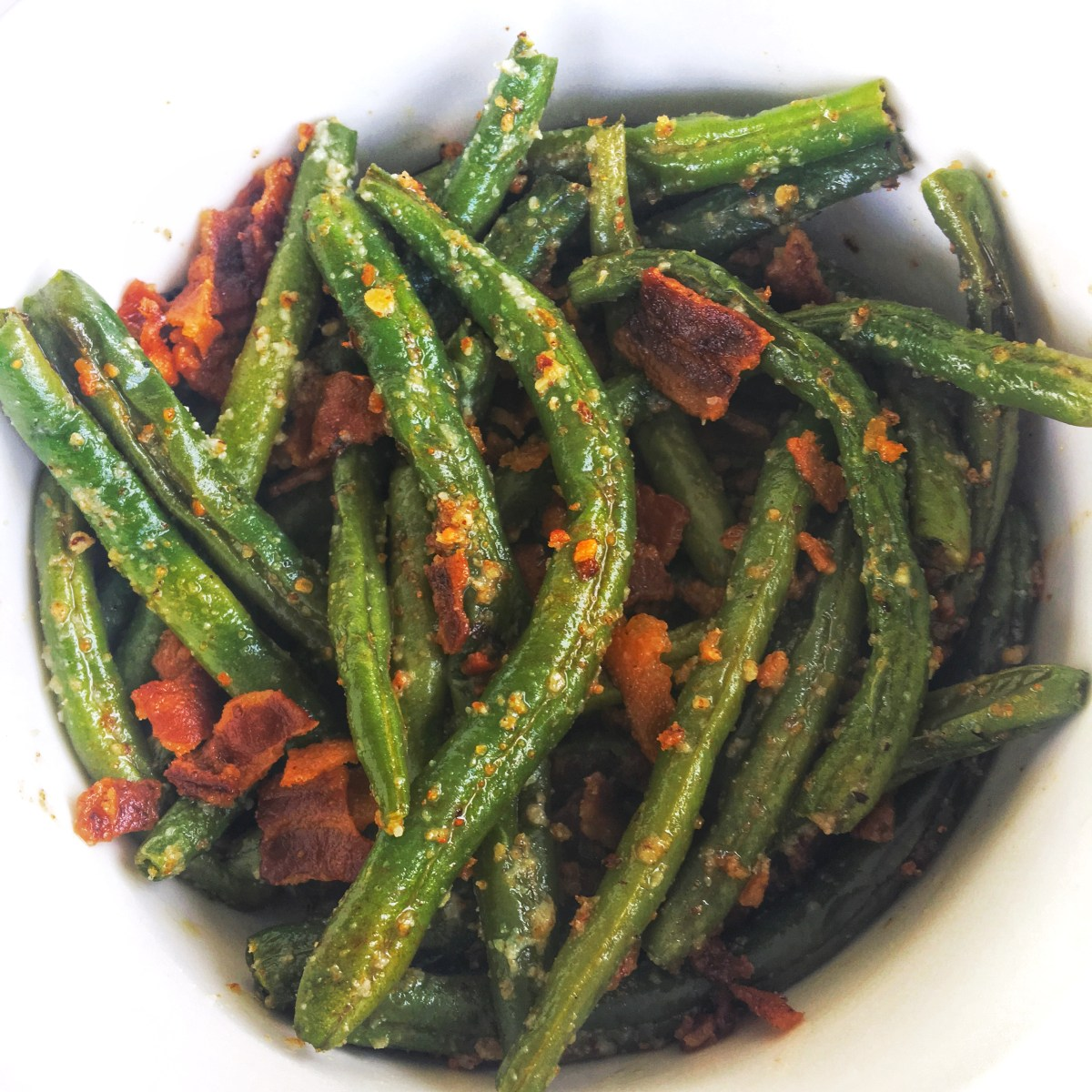 Bacon Garlic Parmesan Green Beans