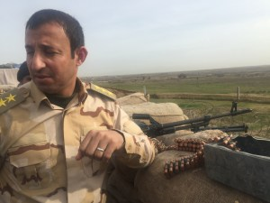 A tour of the base perimeter. It is an Iraqi Army base; all soldiers are Kurdish.