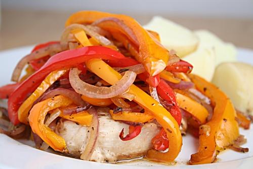 Balsamic roasted pepper chicken