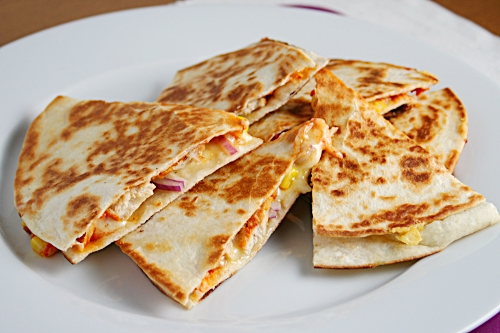 Quesadillas - a quick and easy dinner