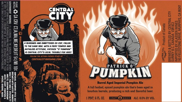 Central City Patrick O' Pumpkin Barrel Aged Imperial Pumpkin Ale
