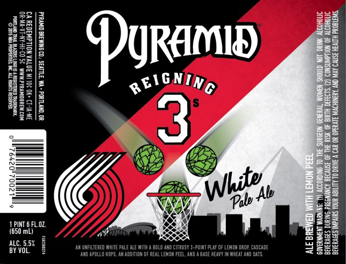 Pyramid Reigning 3s White Pale Ale