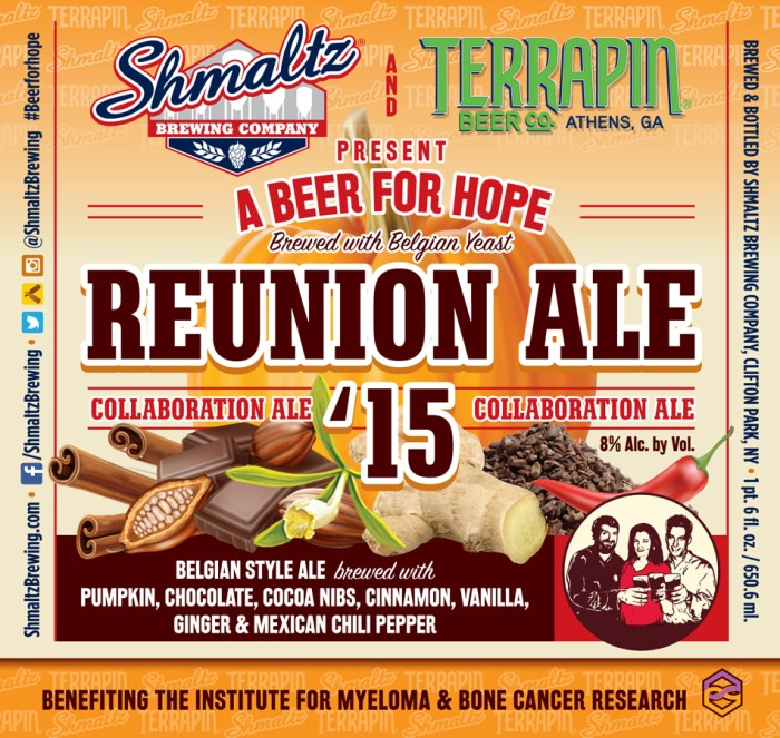 Schmaltz and Terrapin A Beer For Hope Reunion Ale '15