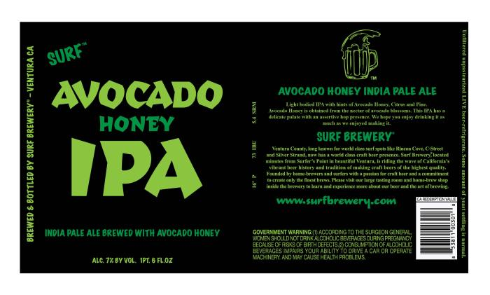 Surf Avocado Honey IPA