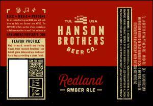 Hanson Brothers Redland Amber Ale