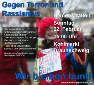 Bündnis gegen Rechts-Aufruf Gegen Terror & Rassismus 22.02.15