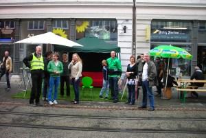 """Grüner Laden am 2. """"Tag der Sitzgelegenheit(en)"""" in der Friedrich-Wilhelm-Straße (10.09.2013)"""