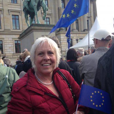 Juliane Krause bei Pulse of Europe, Bild: Bündnis 90/Die Grünen Braunschweig