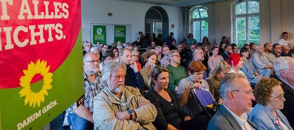 Auditorium Veranstaltung mit Toni Hofreiter am 9.9.2017, Bild: Bündnis 90/Die Grünen Braunschweig