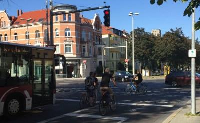 Mobilität an der Kreuzung Jasperallee, Bild: Bündnis 90/Die Grünen Braunschweig
