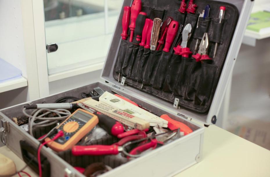Repair Café in Meinerzhagen, Werkzeugkoffer