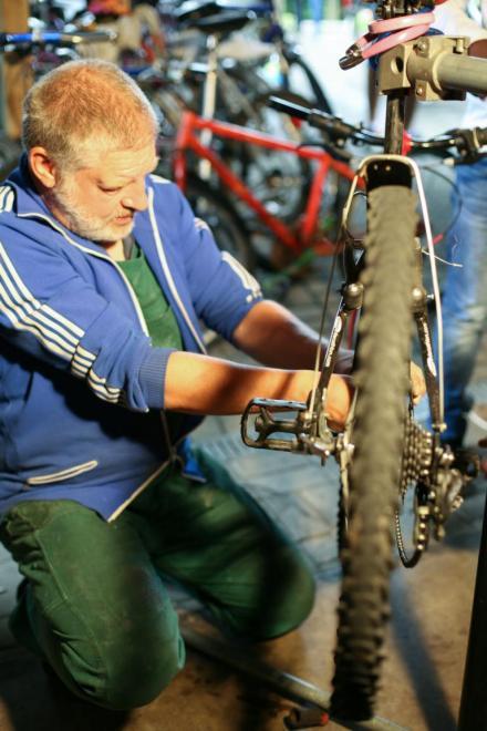 """Am liebsten sind Hornung einfache Markenräder mit Sieben-Gang-Nabenschaltung. """"Die lassen sich wesentlich einfacher reparieren."""""""