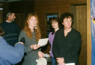 Den ersten Vorstand bildeten Cirsten Cramer-Elsermann, Sandra Johann und Astrid Dobrindt (von links).