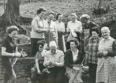 Frauengruppe, Arbeitseinsatz an der Volmequelle © Foto: Thomas Müller