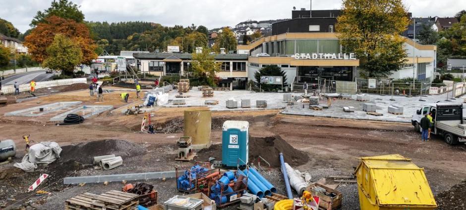 Stadtplatz, Baustelle am neuen Volmemarkt © Foto: Stefanie Schildchen