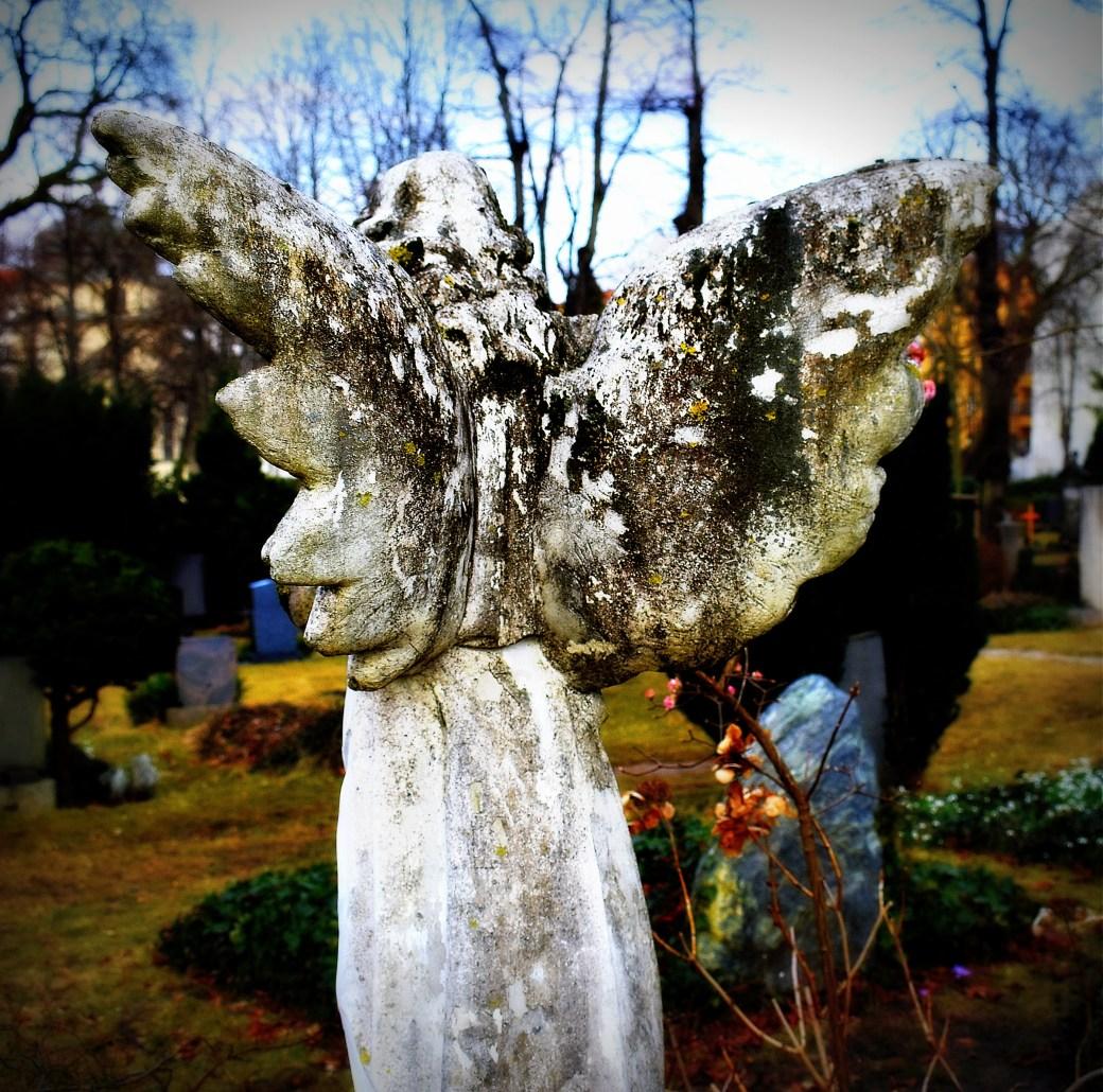 Engel von hinten