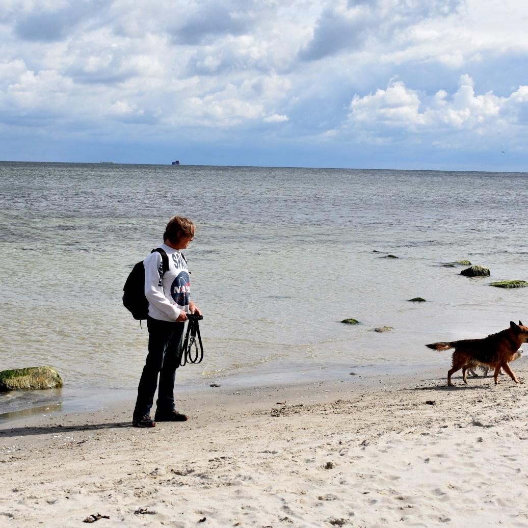 Paul und Gino am Strand