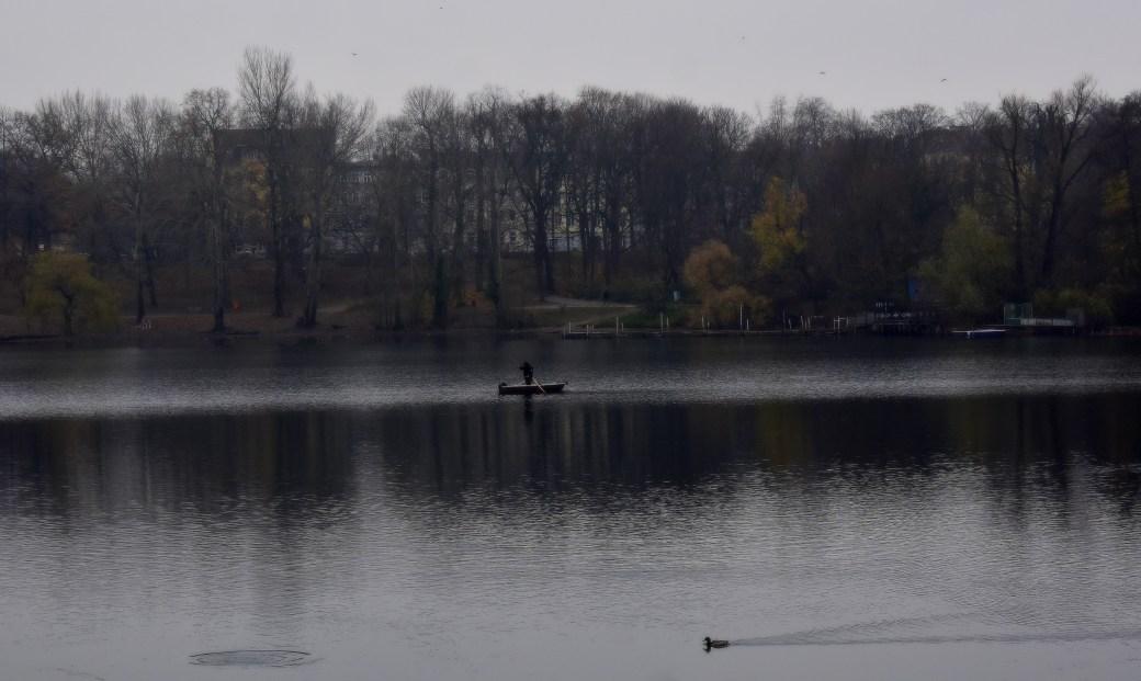 Einsamer Angler