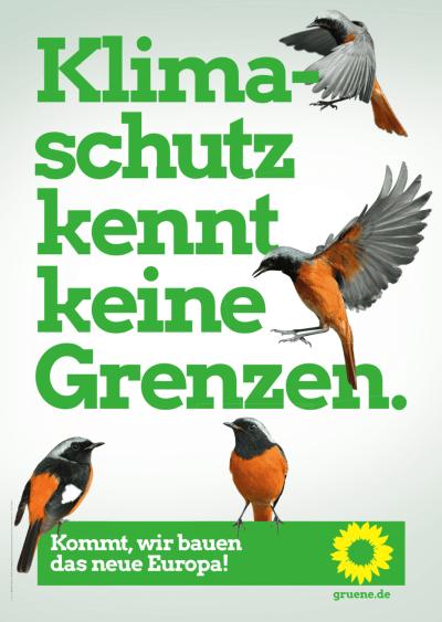 Plakat zur Europawahl 2019: Klimaschutz kennt keine Grenzen.