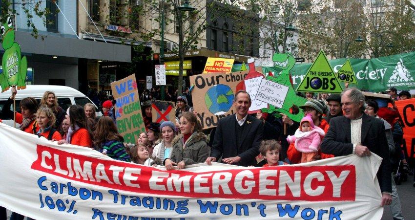 Demonstrationszug für Klimanotstand