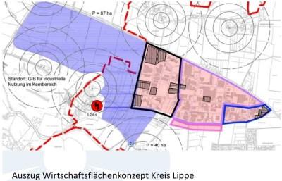 Die Hengstheide im Griff des geplanten interkommunalen Industriegebietes, das im Vorwahlkampf forciert wird