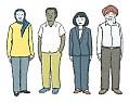 Geflüchtete, Ausländer, Migranten. Leichte Sprache