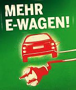 Plakat Mehr E-Wagen!