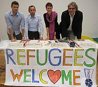 Plakat zur Anerkennungskultur: Refugees Welcome