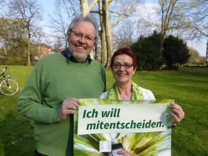 Grünes Spitzenduo für den Kreis Düren: Bruno Voß und Astrid Hohn