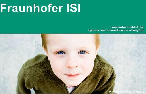 Das Fraunhofer-Institut ISI analysiert Entstehung und Auswirkungen von Innovationen (Screenshot: isi.fraunhofer.de)