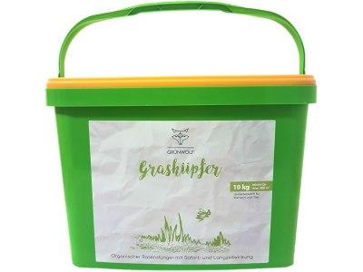 Grashüpfer - der Ganzjahresdünger für Ihren Rasen von GRÜNWOLF