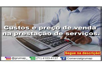 Custos e preço de venda na prestação de serviços