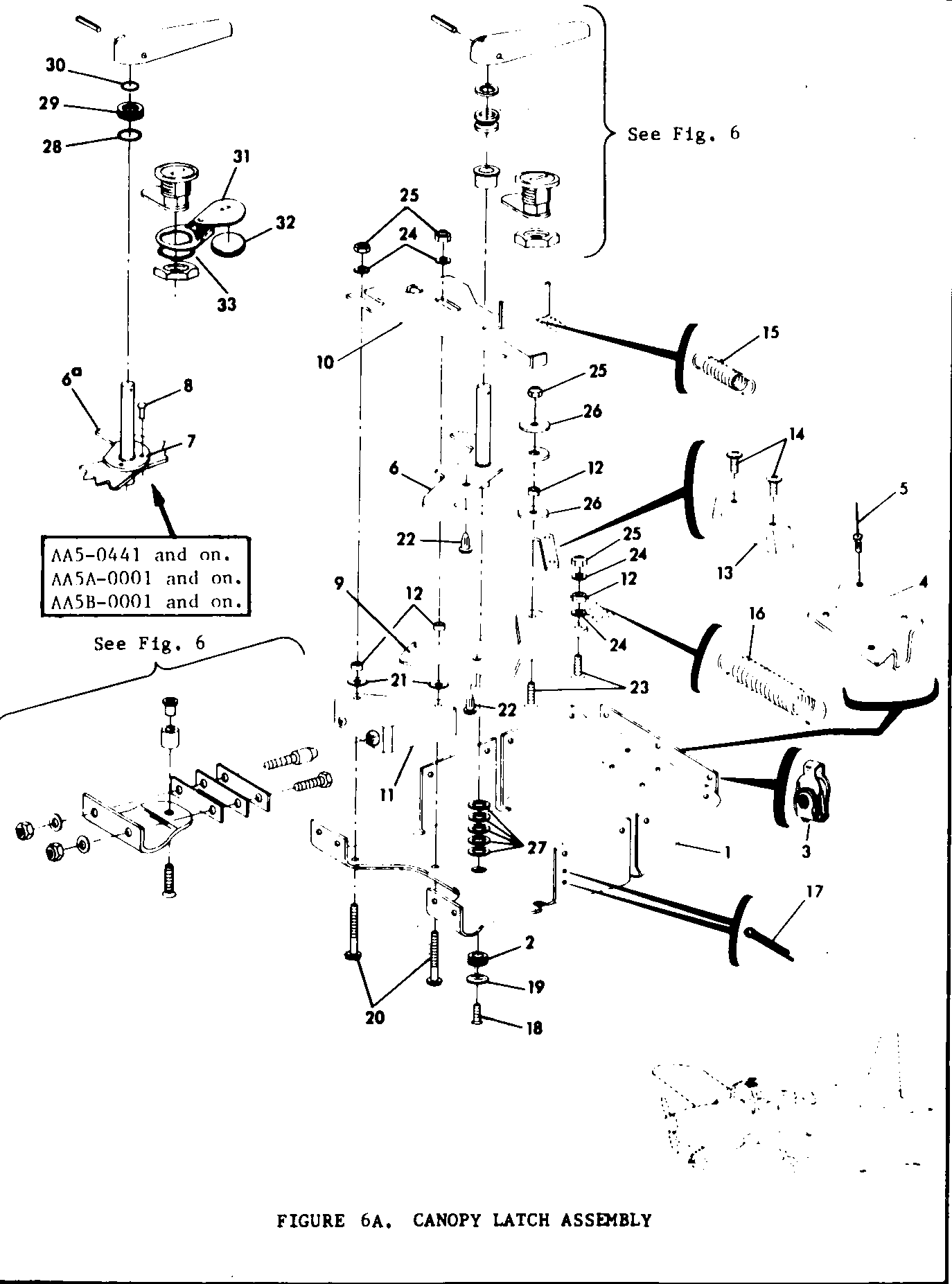 Parts Diagram Figure 6a Canopy Latch Assembly