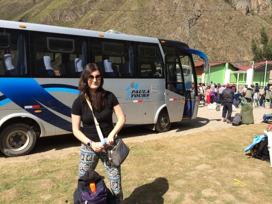 Beth ready to start the Inca trail on a sunny day