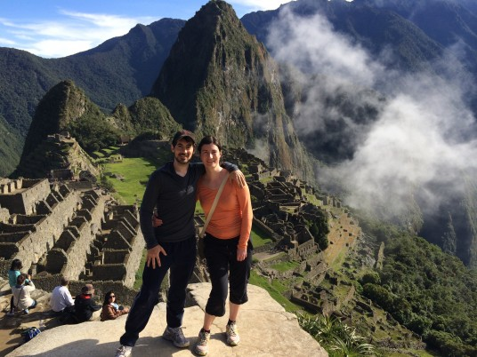 Some random couple at Machu Picchu - That guy is so hot wow!
