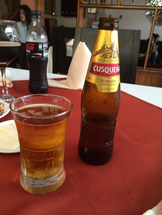 Cusqueña - Most common beer
