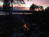 Første natt ved Skogtjønna.