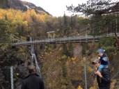 Rukan og broen over juvet der tungtvann fabrikken lå.
