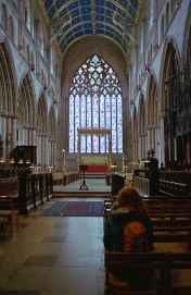 Another of the beautiful windows, this one over the main altar