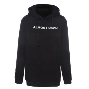 Sweat Gothique et Grunge noir Almost Dead avant