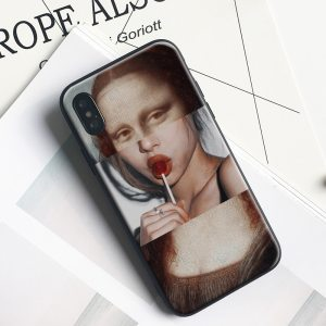 Coque tumblr en silicone mona lisa