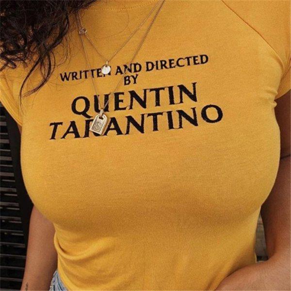 t-shirt quentin tarantino jaune