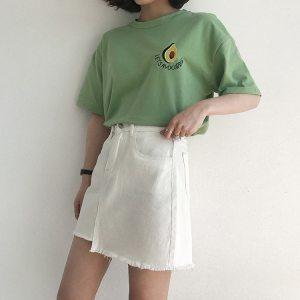 T-shirt vert style tumblr avec un avocat