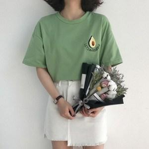 T-shirt vert style tumblr girl