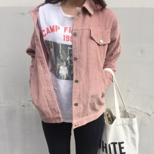 veste vintage casual rose