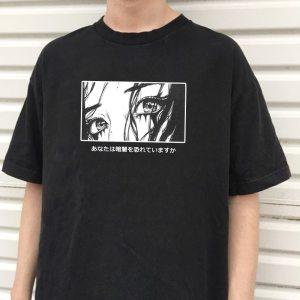 T-shirt japonais style grunge