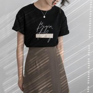 T-shirt minimaliste noir style tumblr