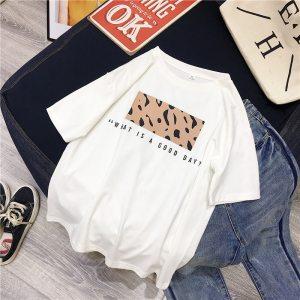 T-shirt streetwear good day blanc